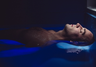 Float room with man floating